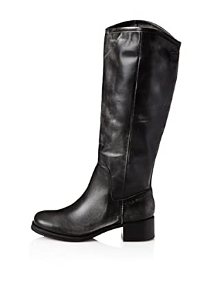 Calvin Klein Jeans Women's Fay Knee-High Boot (Black Leather)