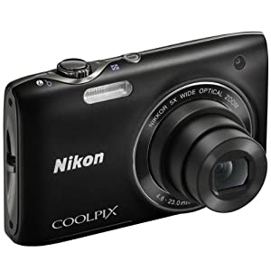 Nikon COOLPIX S3100 14 MP Digital Camera with 5x NIKKOR Wide-Angle Optical Zoom Lens and 2.7-Inch LCD (Black)