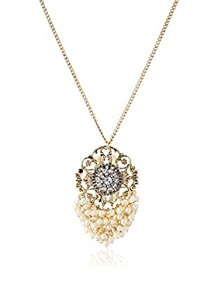 Leslie Danzis Pearl Cluster Pendant Necklace