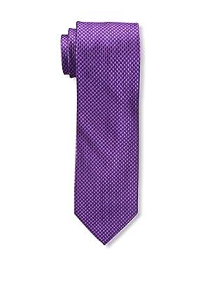 Bruno Piattelli Men's Houndstooth Silk Tie, Fuschia