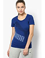 Blue Polyester Blend Top