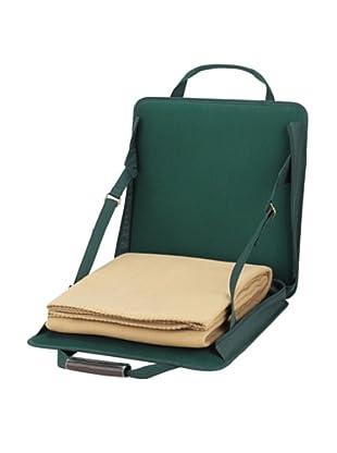 Picnic At Ascot Stadium Seat Green with Tan Blanket
