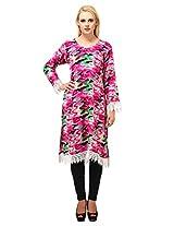 Suhi Womens Rayon Pink XX-Large Kurta