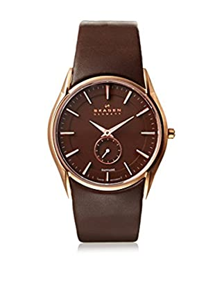 Skagen Men's 808XLRLD Black Label Brown Stainless Steel Watch
