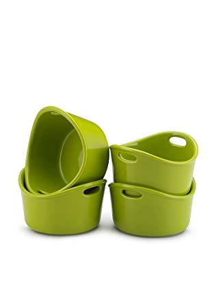Rachael Ray Bubble and Brown Set of 4 Ramekins (Green)