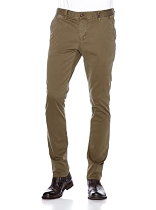 NZA New Zealand Auckland Chino Stretch Twill Pana Magnesia del Sipilos (Verde Militar)