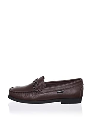 Pliner Jrs Oliver Loafer (Brown Pebbled)