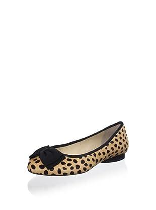 Kat Maconie Women's Pandora Ballet Bow Flat (Cheetah)