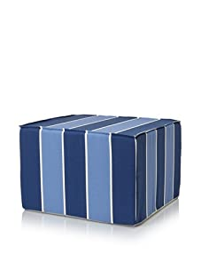 Jiti Blueberry Stripes Ottoman (Blue)