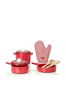 Melissa & Doug Deluxe Wooden Kitchen Accessory Set