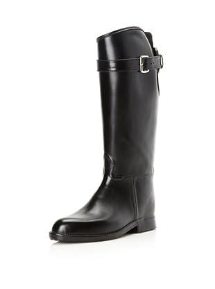 däv Women's Equestrian Stretch Knee-High Boot (Black)