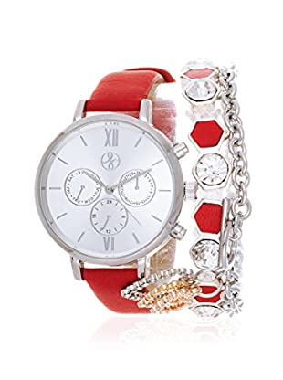 Arm Candy Women's NXS5290M1-RE Red/White Stainless Steel/Leather Watch
