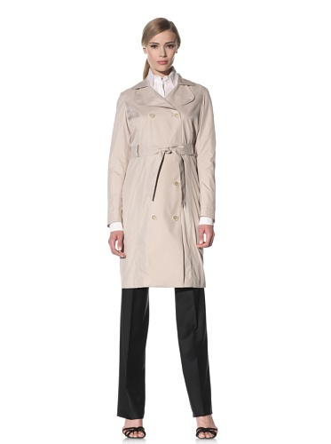 Luciano Barbera Women's Belted Trench Coat (Beige)