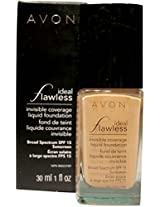 Avon Ideal Flawless Invisible Coverage Liquid Foundation SPF 15 Shell