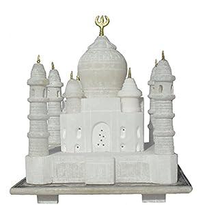 "3"" Taj Mahal (Handmade) Pure White Marble - A Perfect Home Decoration Item"