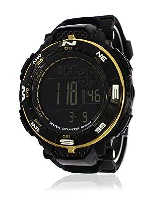 Pit Lane Uhr mit Miyota Uhrwerk Pl-2003-1 schwarz 50 mm