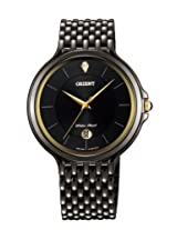 Orient Men Black Dial Black Metal Strap Round Shape, Made in Japan