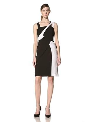 Nue by Shani Women's Sleeveless Colorblock Dress (Black Ivory)