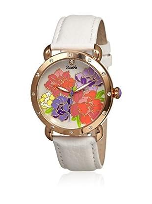 Bertha Uhr mit Japanischem Quarzuhrwerk Angela weiß 41 mm