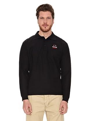 Polo Club Polo Manga Larga Regular Fit Color (Negro)