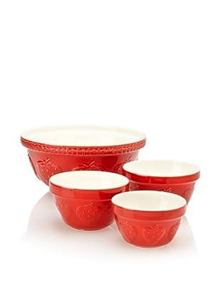 Mason Cash Set of 4 Zest Mixing Bowls (Strawberry)