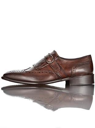British Passport Zapatos Lengüeta y Hebilla (Chocolate)