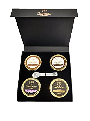 Calvisius Caviar Set of 4 50-Gram Tins in Gift Box