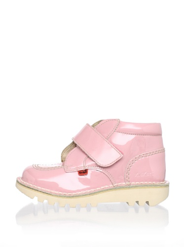 Kickers Kid's Krafty-AW Ankle Boot (Toddler/Little Kid) (Pink Patent)