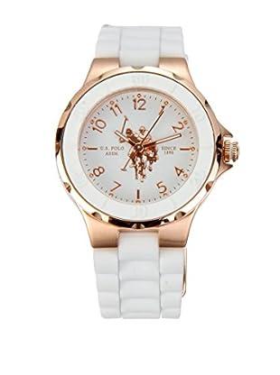 U.S. POLO ASSN. Uhr mit japanischem Quarzuhrwerk Ginger weiß 33 mm
