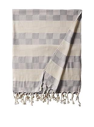 Nomadic Thread Handwoven Towel Cube, Natural/Grey