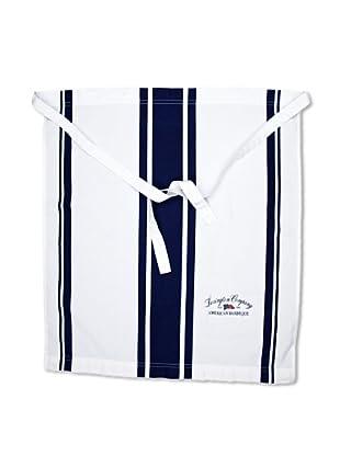 Lexington Company Delantal Rayas (Blanco / Azul)