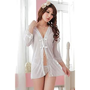 Pure White Cape shirt + bikini sets transparent (wow6051)