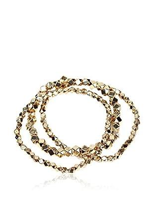 Amrita Singh Braccialetto Metallic Bead Stretch