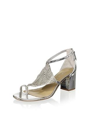Lola Cruz Women's Mid Heel Sandal (Plata)