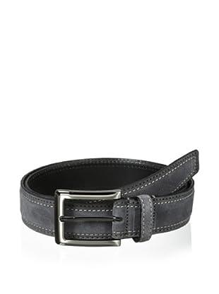J.Campbell Los Angeles Men's Suede Stitched Belt (Grey)
