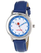 Red Balloon Kids W000195 Blue Leather Strap Stainless Steel Time Teacher Watch