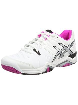 Asics Gel-challenger 10, Damen Tennisschuhe, Weiß (white/pink Glow/black 0135), 42 EU