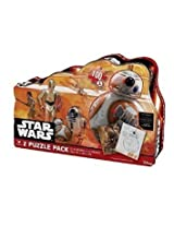 Star Wars Movie Fan Collectible Jigsaw Puzzle Droids Two Pack With Scenic Storage Tin