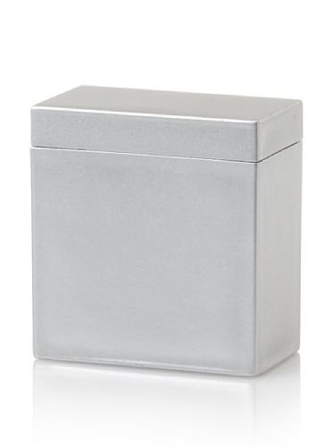 Impulse! Seville Cotton Ball/Cotton Swab Box, Silver