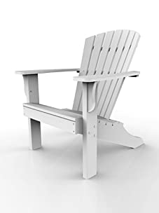 Malibu Outdoor Furniture Hyannis Adirondack Chair (White)
