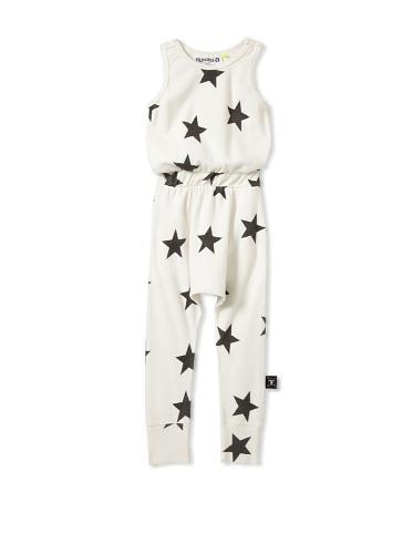 NUNUNU Kid's Star Romper (White)