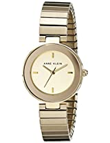 "Anne Klein Women's ""AK/1836CHGB"" Gold-Tone Expansion-Band Watch"