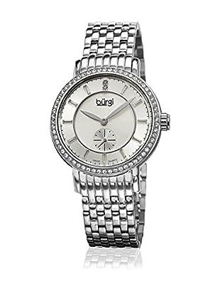 Bürgi Uhr mit schweizer Quarzuhrwerk Woman silberfarben 34 mm