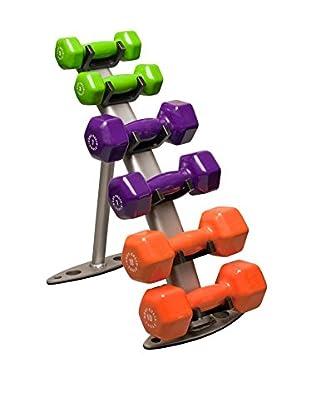 Body Solid Fitness Rack Package with Neoprene Dumbbells, Multi