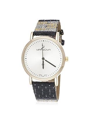 Via Nova Women's NWL301966G-M3 Multi/White Leather Watch