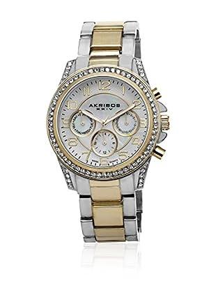 Akribos XXIV Reloj con movimiento cuarzo suizo Woman AK683TTG Plateado / Dorado 39 mm