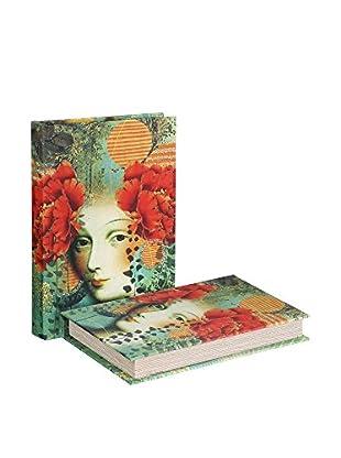 RETRO HOME Caja libro Multicolor