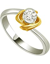 0.10 ct Diamond Two Tone Solitaire Ring SDR316