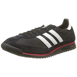 Classic Black & White Running Sports Shoes for Men - Model Number SI 72 by Adidas