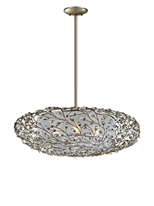 Artistic Lighting Winter Forest 4-Light Pendant, Aged Silver